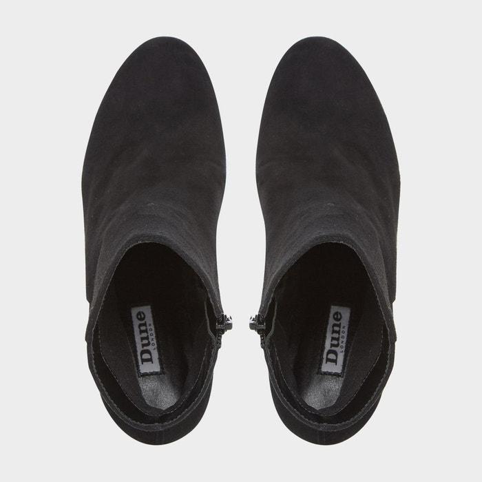 Boots en cuir à talon opel noir Dune London