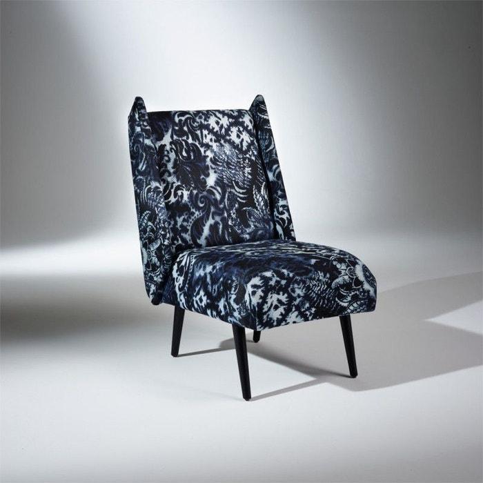 fauteuil chauffeuse imma tissu vintage robin des bois la redoute. Black Bedroom Furniture Sets. Home Design Ideas