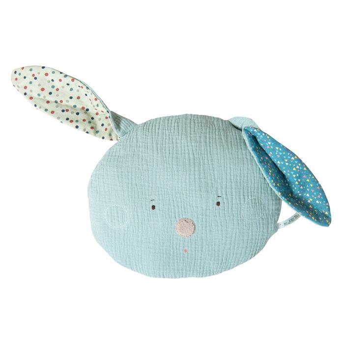 Cuscino testa coniglio blu Les Jolis trop beaux  MOULIN ROTY image 0