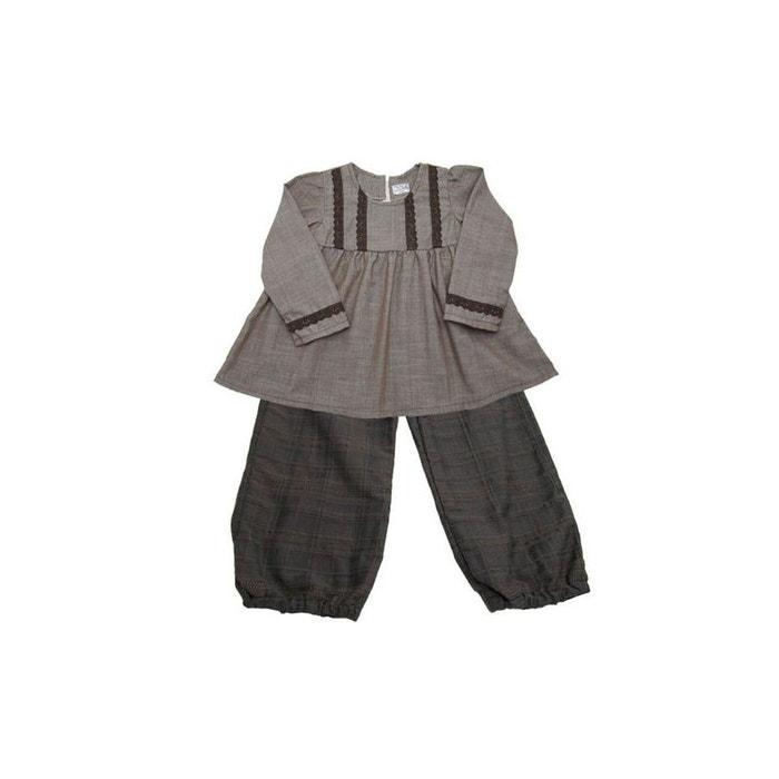 Vêtement enfant  ensemble fille pantalon-tunique 4 ans marron Poussin Bleu    La Redoute 04a8c44cd931