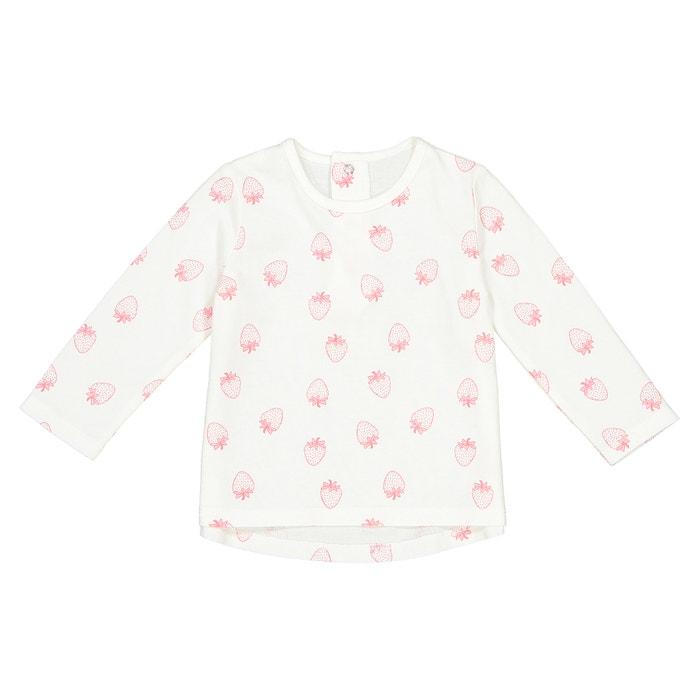 T-shirt imprimé fraise  1 mois - 3 ans, Oeko Tex  La Redoute Collections image 0