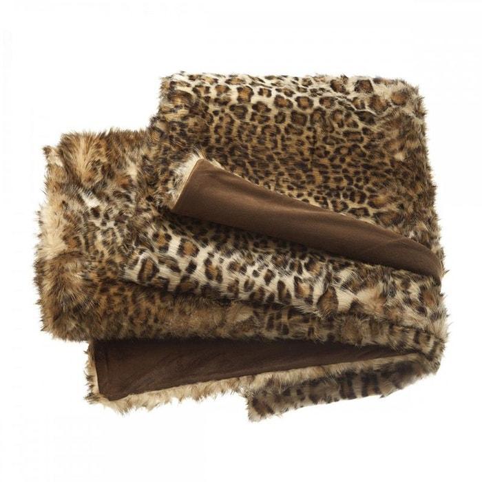 plaid leopard tradition des vosges marron tradition des vosges la redoute. Black Bedroom Furniture Sets. Home Design Ideas