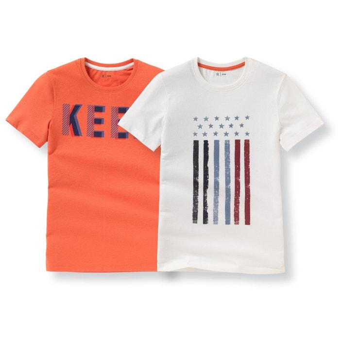 Image Confezione da 2 T-shirt a maniche corte 10-16 anni La Redoute Collections