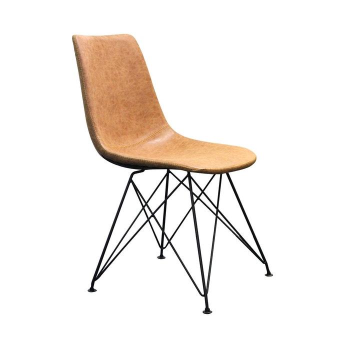 2 chaises scandinaves clyde marron boite a design   la redoute