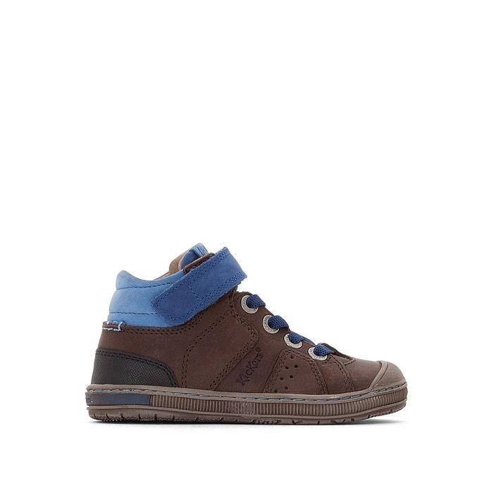 b9d159cb1a50d2 Baskets montantes cuir iguane marron foncé Kickers | La Redoute