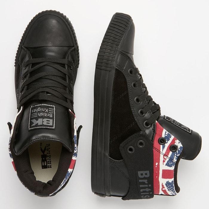 Roco hommes baskets montante noir/union jack/noir British Knights