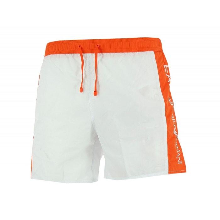 Short de bain (blanc) polyester blanc Emporio Armani Ea7   La Redoute 36eed152dcd0