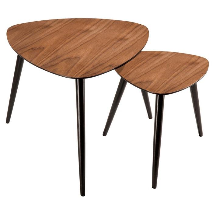 table basse scandinave en bois lot de 2 bois rendez vous deco la redoute. Black Bedroom Furniture Sets. Home Design Ideas