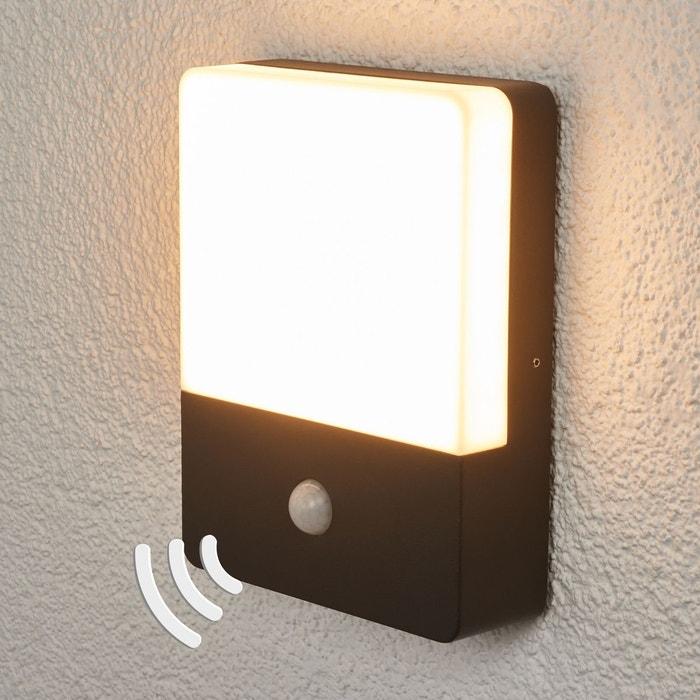 applique avec d tecteur de mouvement annu led gris fonc blanc lampenwelt. Black Bedroom Furniture Sets. Home Design Ideas