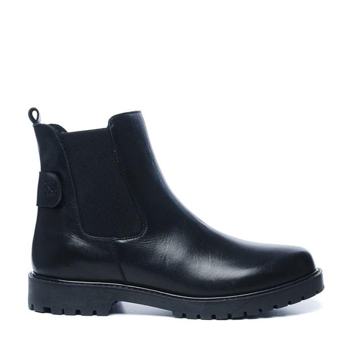 Vente 2018 Nouveau Mastercard Pas Cher En Ligne Chelsea boots en cuir noir Sacha Visite Libre Expédition Nouvelle CqpNX3VPz