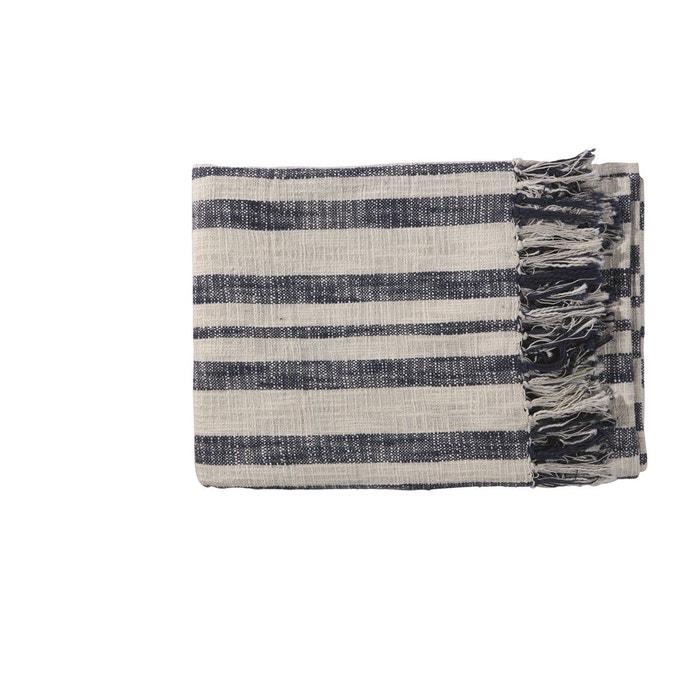 plaid coton alba bleu pomax la redoute. Black Bedroom Furniture Sets. Home Design Ideas