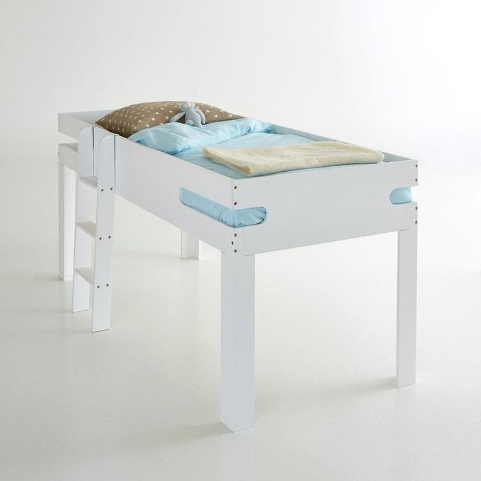 lit avec espace chevet int gr et sommier dydus blanc la. Black Bedroom Furniture Sets. Home Design Ideas