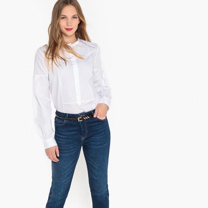 51d97ff3c2 Pleated mandarin collar cotton shirt