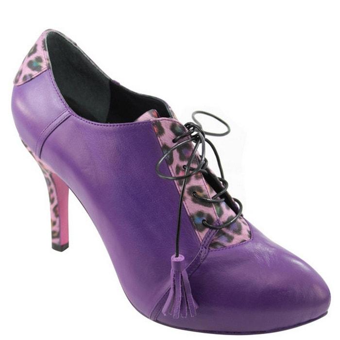 Violet en cuir ENID PRING femme BIS PARIS Chaussures UaWqfn0t