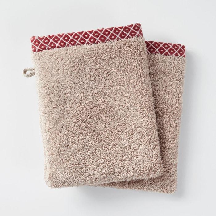 lot de 2 gants de toilette evora la redoute interieurs la redoute. Black Bedroom Furniture Sets. Home Design Ideas