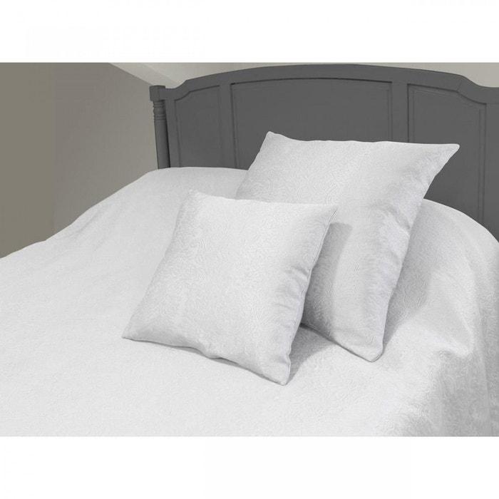 couvre lit saturne blanc 240x220 terre de nuit blanc terre de nuit la redoute. Black Bedroom Furniture Sets. Home Design Ideas