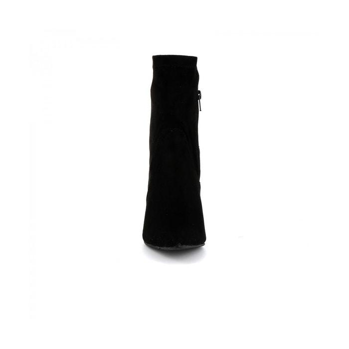 Bottine strass azolla noir Cassis Cote Dazur