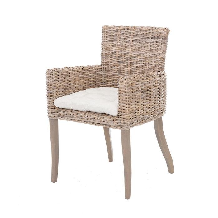 fauteuil club en kubu tress ines rotin design beige gris rotin design la redoute. Black Bedroom Furniture Sets. Home Design Ideas