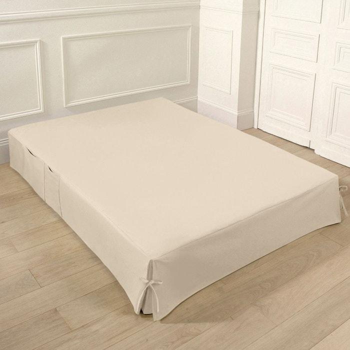 cache sommier nouettes et poches blanc cru la redoute interieurs la redoute. Black Bedroom Furniture Sets. Home Design Ideas