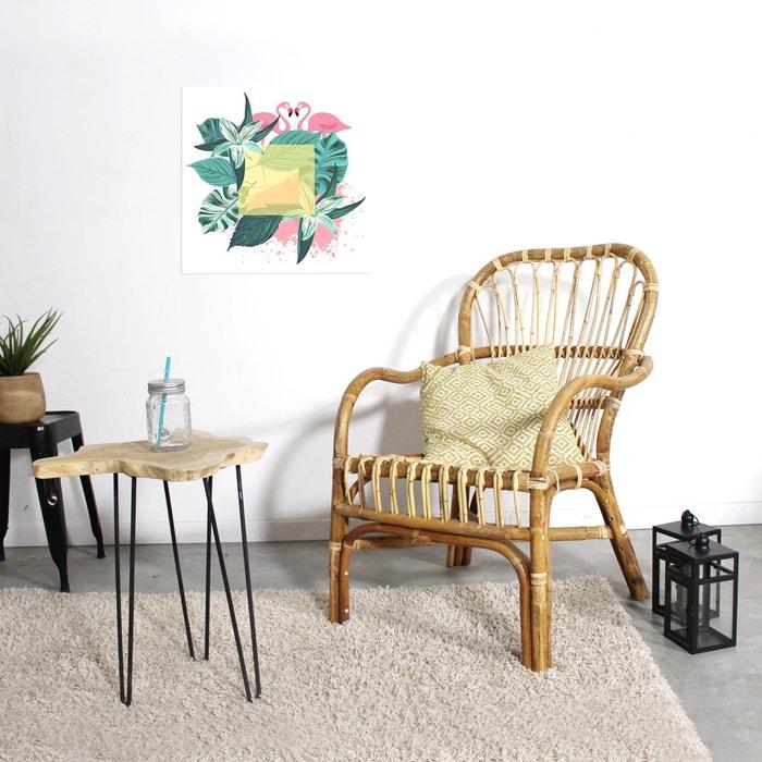 fauteuil en rotin bicolore vintage vdl bois clair made in meubles la redoute. Black Bedroom Furniture Sets. Home Design Ideas