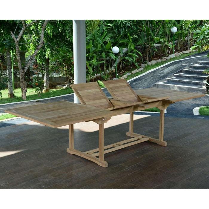 Table de jardin en teck extensible 300 x 110 cm - sydney naturel ...