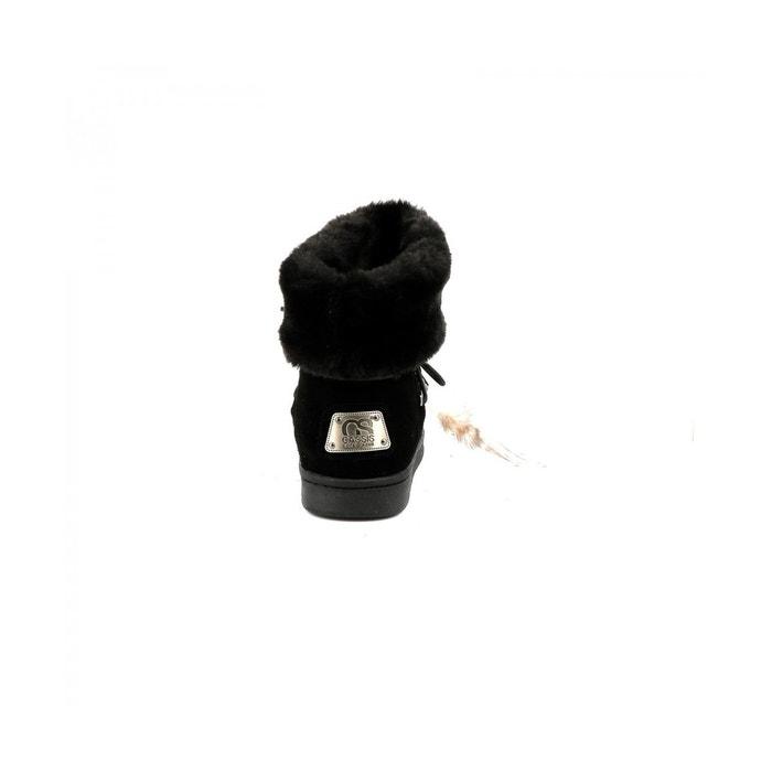 d0183f70cd092 Bottine fourrée rysis noir Cassis Cote D azur   La Redoute