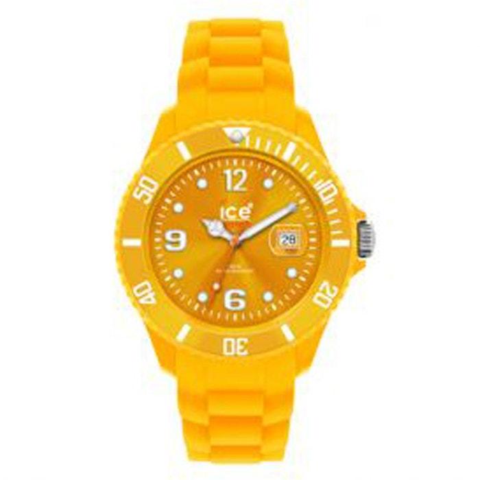 Montre ice watch big de couleur jaune orangé avec bracelet silicone ...