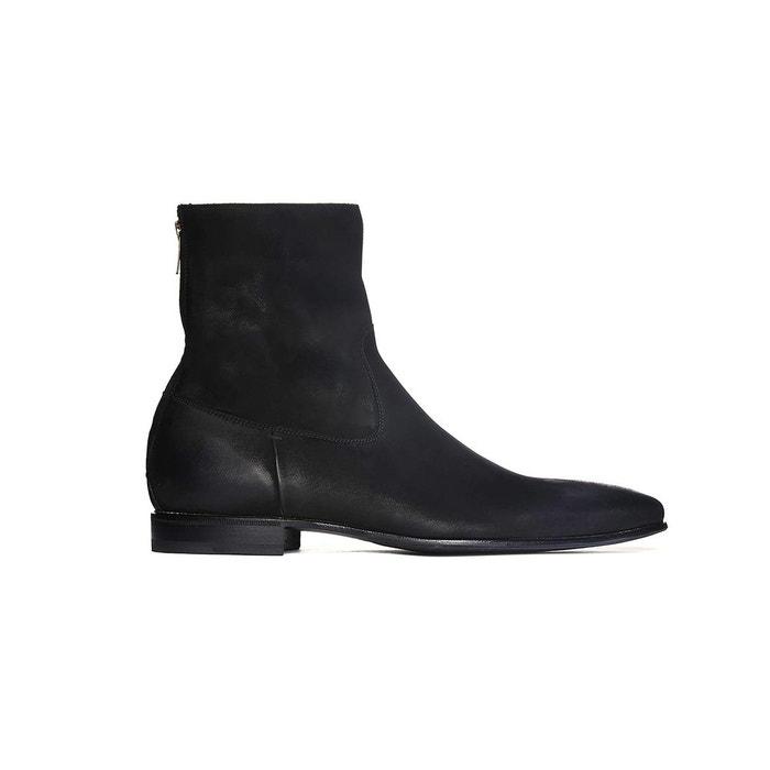 Boots en nubuck graissé MAC GILL Pete Sorensen en noir pour homme