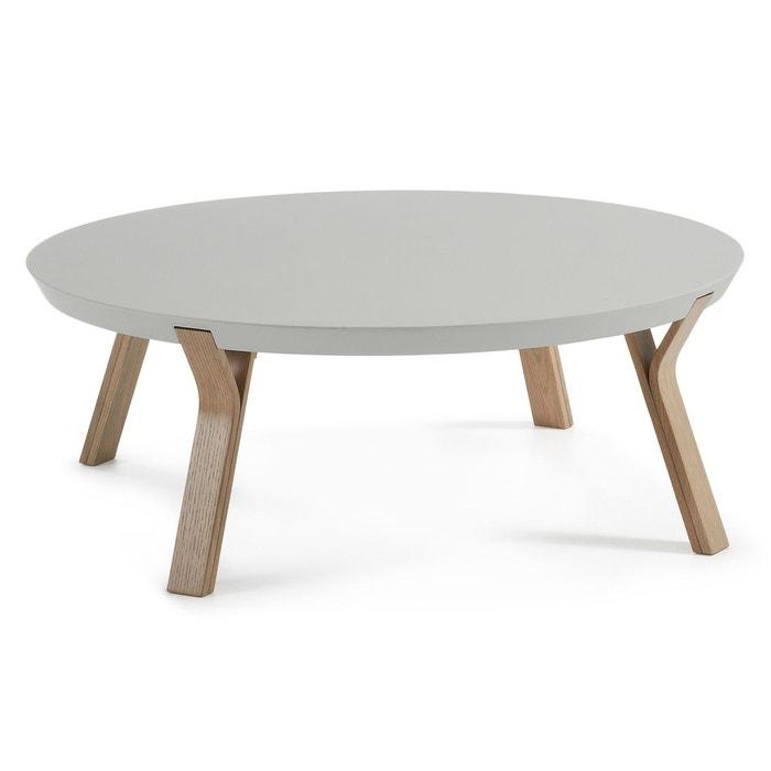 Table basse dilos chene et gris gris kave home la redoute - La redoute table chene ...