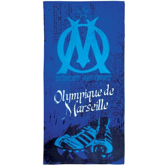 Drap de plage om crampons 100 coton 410 g m 70x120cm bleu olympique mars - La redoute drap de plage ...