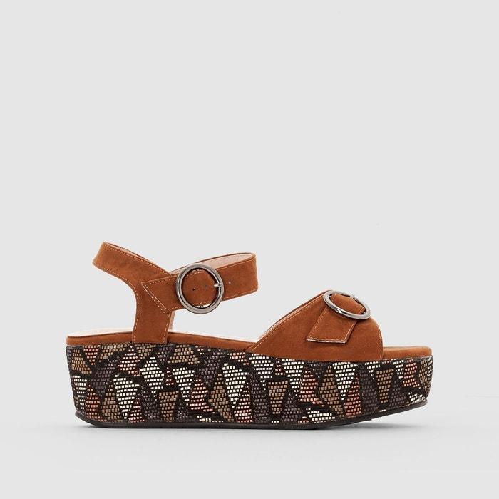 Sandales compensées marron Mademoiselle R