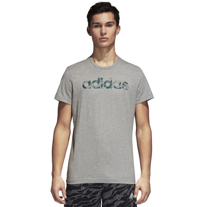 ADIDAS cuello redondo manga estampado delante y corta de PERFORMANCE Camiseta con tIUwqUr6