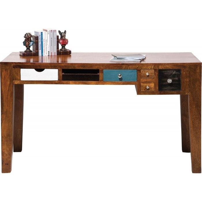 Bureau en bois babalou 135x60 cm kare design marron kare for Bureau kare design