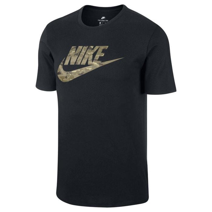 redondo manga corta de delante y NIKE cuello Camiseta con estampado 7w7q64a