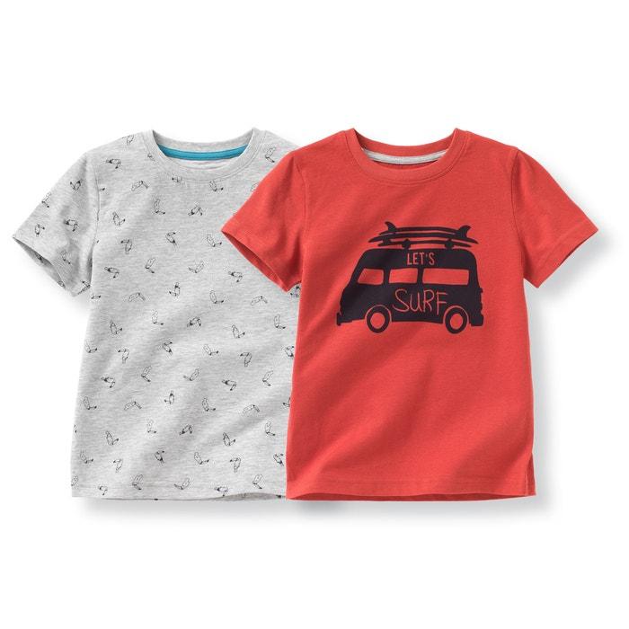 Image T-shirt imprimé 3-12 ans (lot de 2) La Redoute Collections