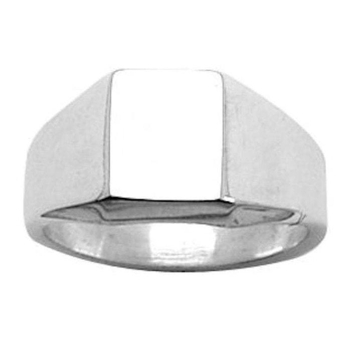 Chevalière bague anneau carré argent 925 couleur unique So Chic Bijoux | La Redoute Réel Pas Cher 3GUb7F