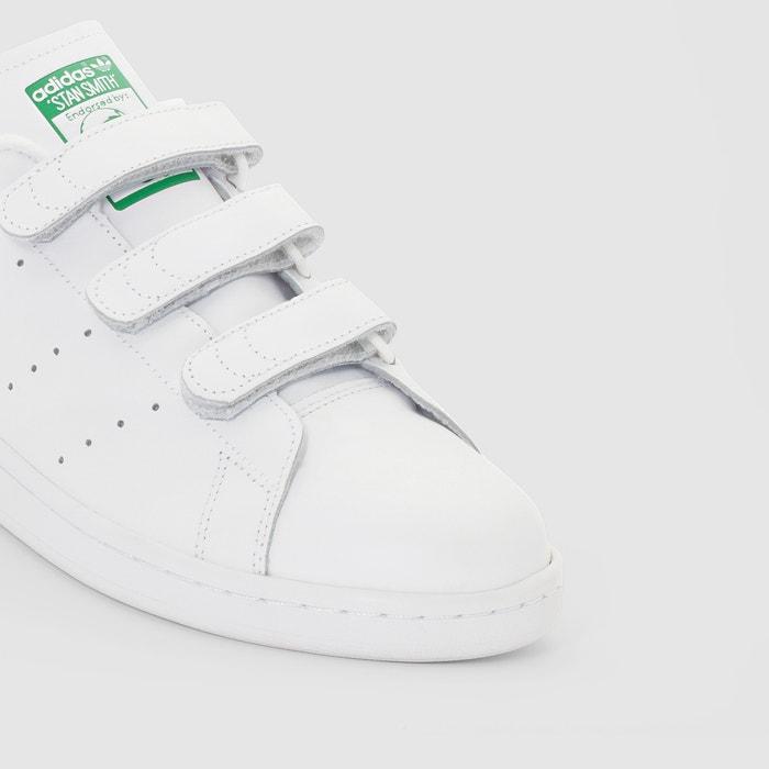 outlet store 0fca7 5f8e4 Zapatillas con tira autoadherente stan smith cf blanco verde Adidas ...