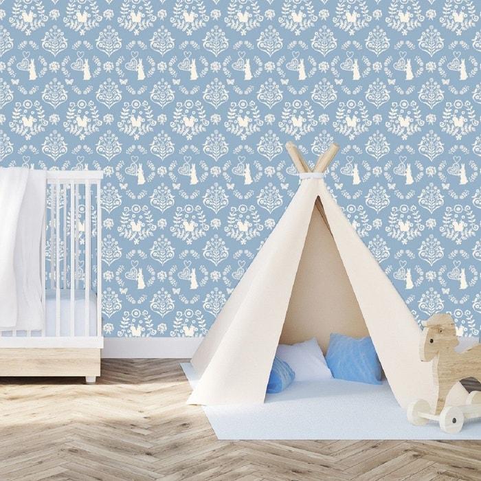 papier peint intiss lapin bleu art for kids la redoute. Black Bedroom Furniture Sets. Home Design Ideas