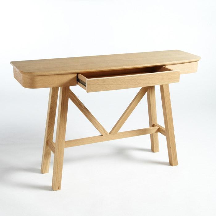 buondi console table by e gallina natural oak am pm la redoute. Black Bedroom Furniture Sets. Home Design Ideas