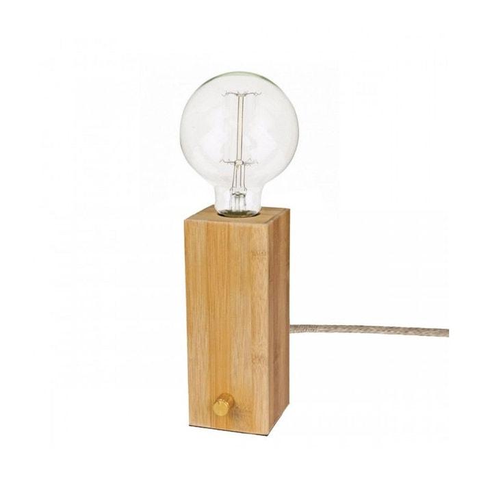 lampe poser bloc bois avec variateur intensit bois wadiga la redoute. Black Bedroom Furniture Sets. Home Design Ideas