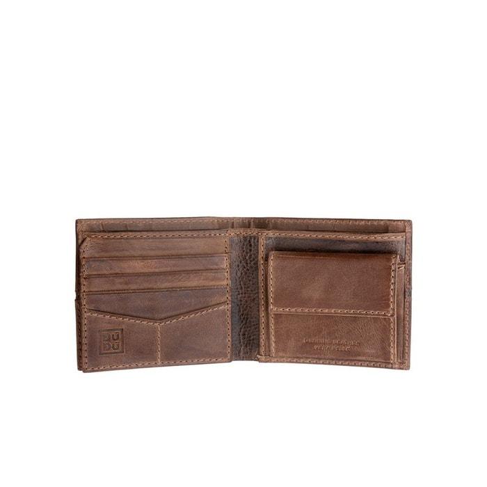 petit portefeuille pour homme en cuir vieilli avec porte. Black Bedroom Furniture Sets. Home Design Ideas