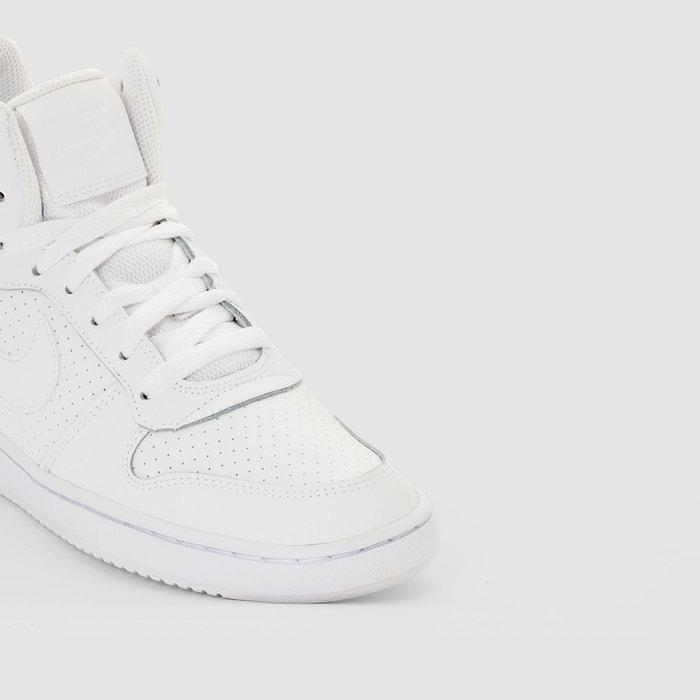 san francisco 130e1 6aba6 Baskets montantes court borough mid blanc Nike ...