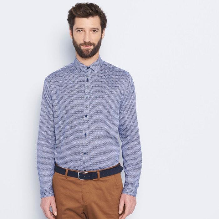 chemise homme ville imprim e bleu dur devred la redoute. Black Bedroom Furniture Sets. Home Design Ideas