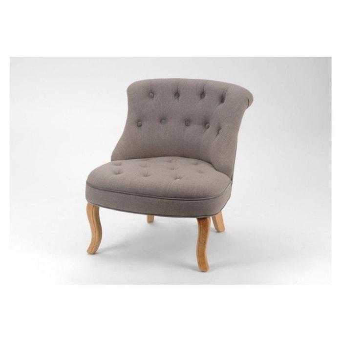 chauffeuse lady taupe lis gris bois hellin depuis 1862 la redoute. Black Bedroom Furniture Sets. Home Design Ideas