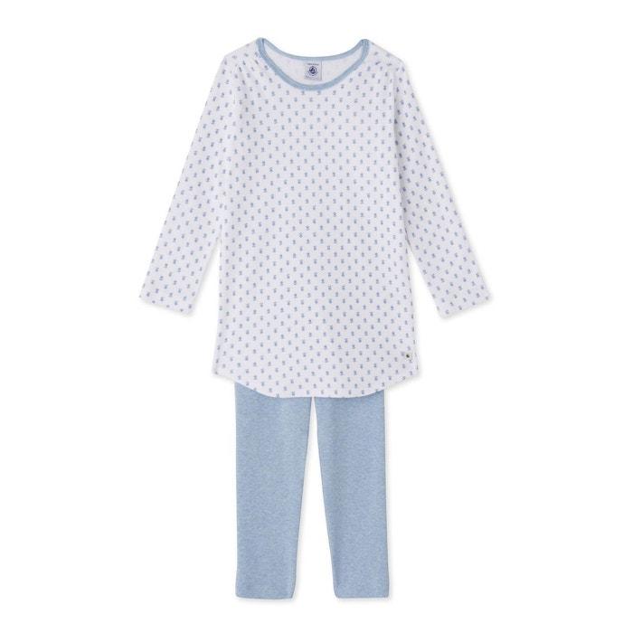 pyjama fille s rigraphi blanc petit bateau la redoute. Black Bedroom Furniture Sets. Home Design Ideas