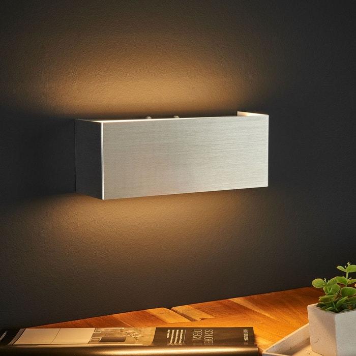 applique led rectangulaire kimberly en aluminium aluminium. Black Bedroom Furniture Sets. Home Design Ideas