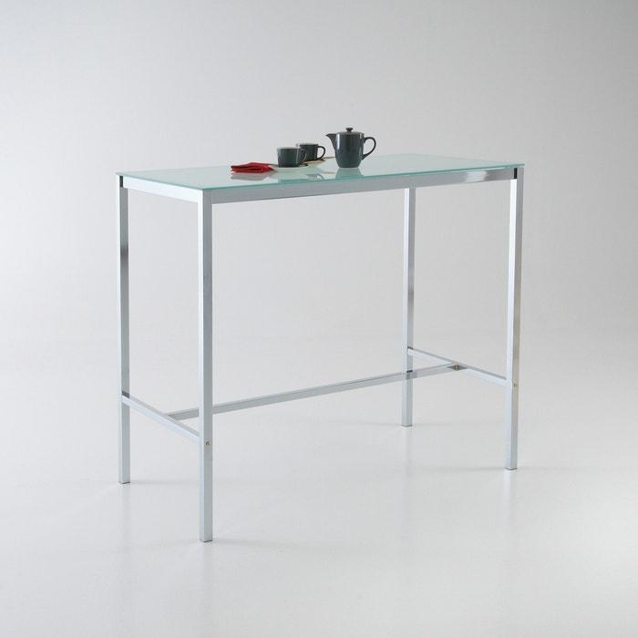 Table haute janik la redoute interieurs blanc la redoute - Table haute la redoute ...