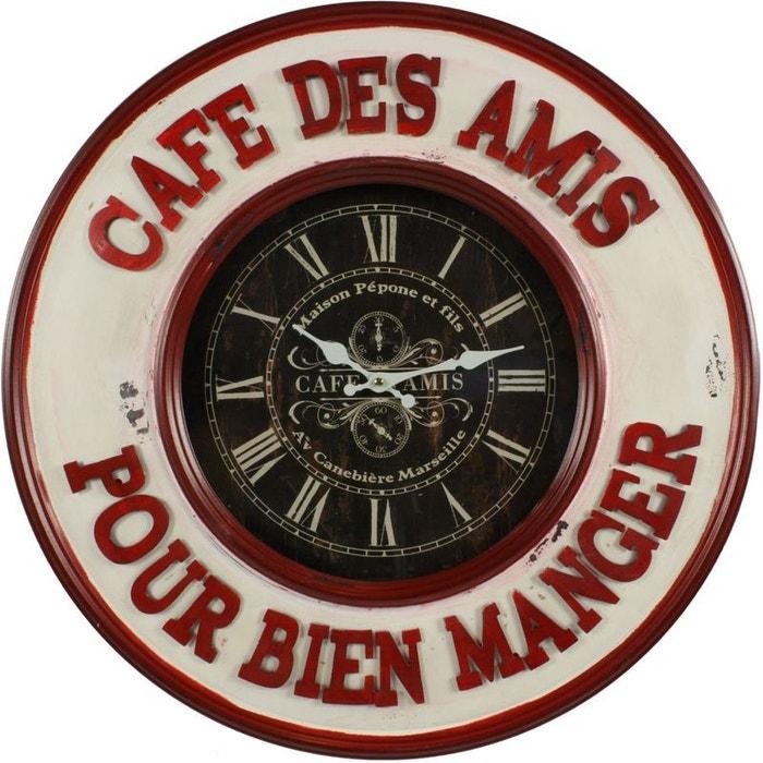 Horloge ancienne murale cafe des amis pour bien manger for Autrefois decoration