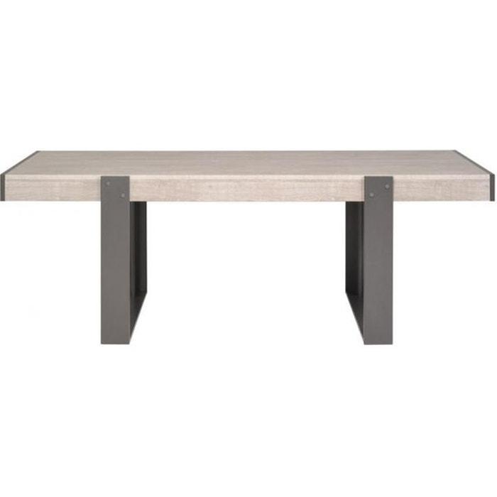 Table de salle manger plaqu bois cannes marron - La redoute table salle a manger ...