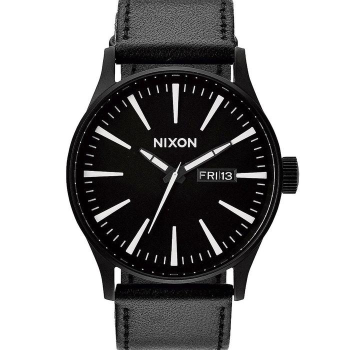 Montre sentry leather noir et blanc pour homme noir Nixon | La Redoute
